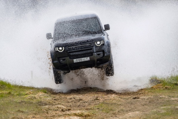 The New Land Rover Defender in action