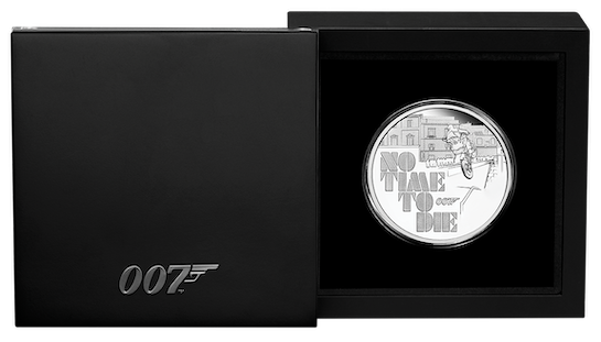 『007/ノー・タイム・トゥ・ダイ』公開記念1オンス銀貨 © 007Store