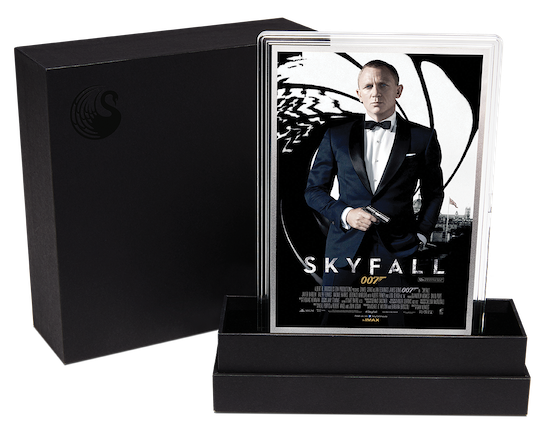 Skyfall silver foil © 007Store