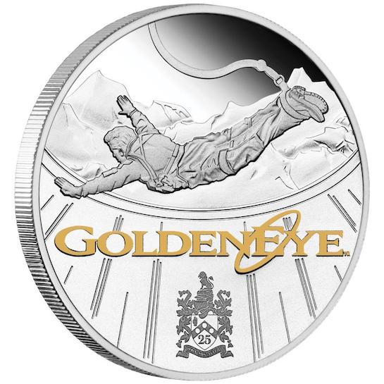 James Bond 1oz Silver Proof Coin - GoldenEye Numbered Edition © 007Store