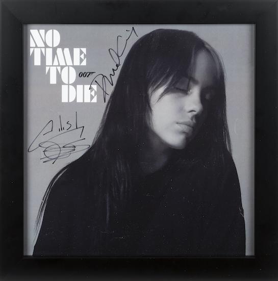 Billie Eilish and Daniel Craig signed lithograph © Julien's Auctions