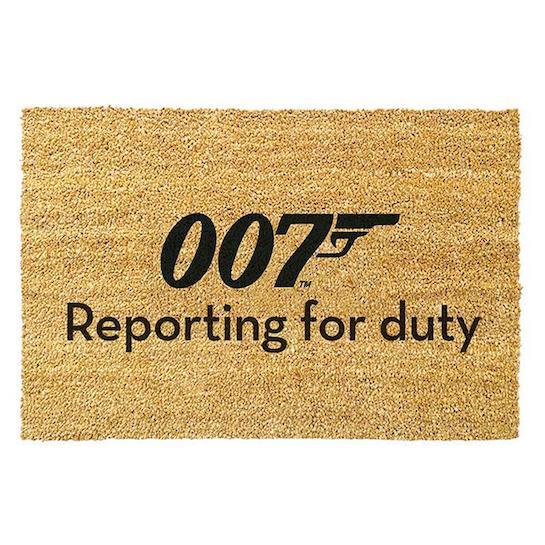 """""""Reporting For Duty"""" Coir Door Mat © 007Store"""