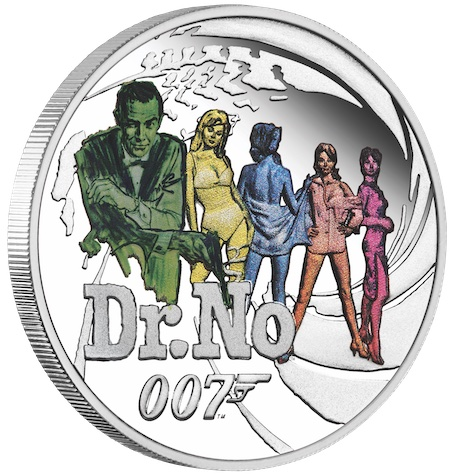 James Bond 1/2 oz Silver Proof 25 Coin Series © 007Store