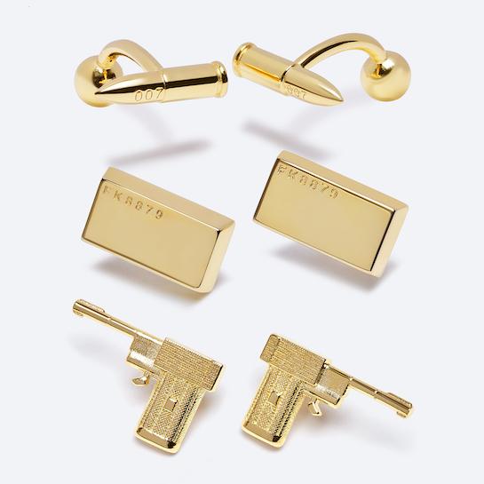 James Bond gold-plated cufflinks © 007Store