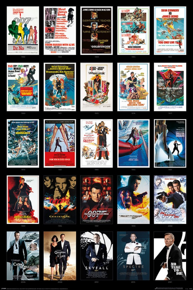 James Bond 25 Films Poster © 007Store