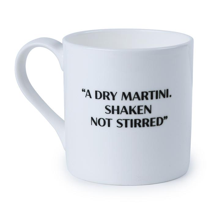 James Bond Martini Quote Bone China Mug © 007Store