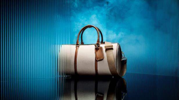 007 Bond Cotton Canvas & Leather Duffle Bag © 007Store