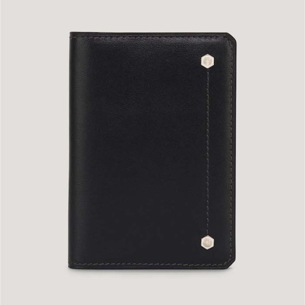 Hex Leather Folded Card Case © 007Store