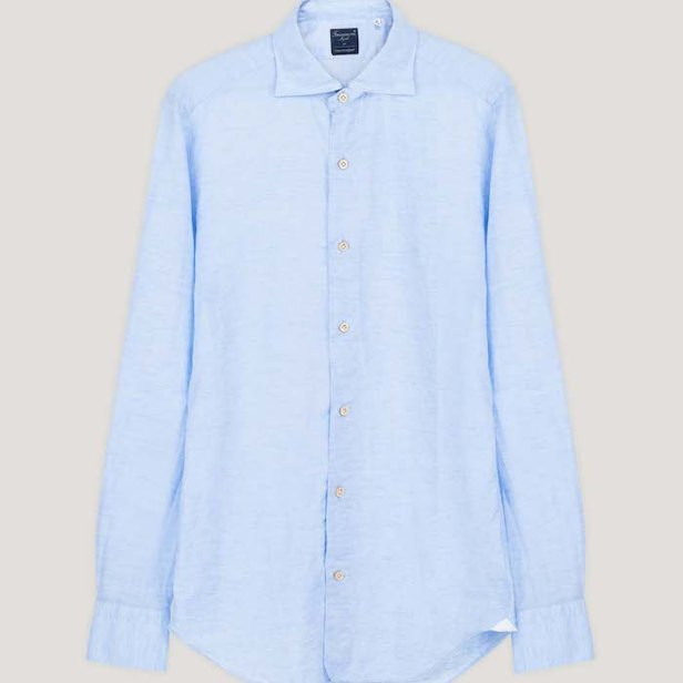 No Time To Die Light Blue Linen Shirt © 007Store