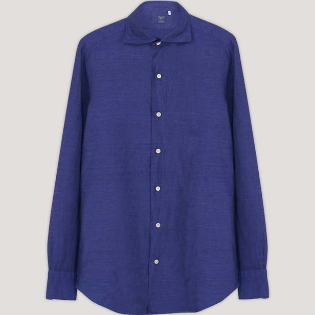 No Time To Die Navy Linen Shirt © 007Store