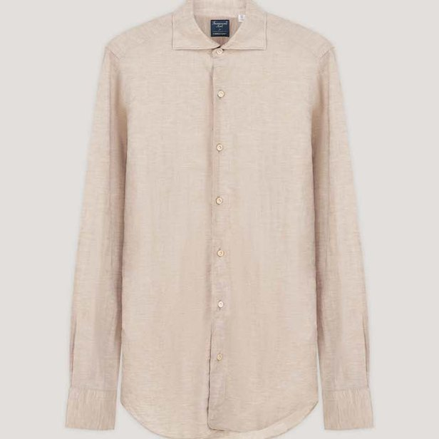 No Time To Die Oatmeal Linen Shirt © 007Store